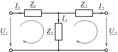 Обозначение направлений токов и напряжений
