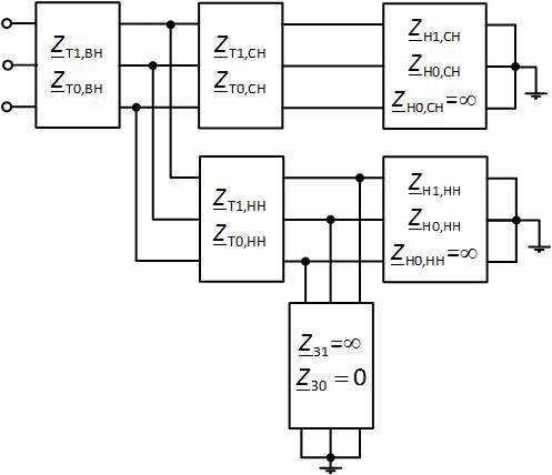 Схема замещения трёхобмоточного трансформатора