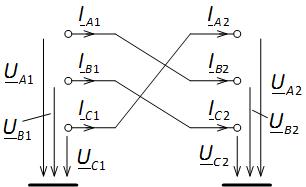 Транспозиция проводов линии электропередачи. Transposition of power line wires