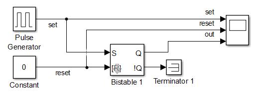 Схема для моделирования дребезга контактов реле