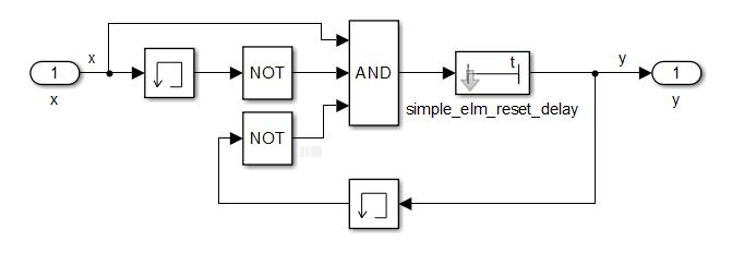 Реализация импульсной выдержки времени с помощью простейших элементов в Simulink