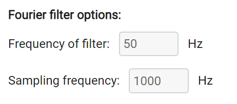Setting the Fourier filter