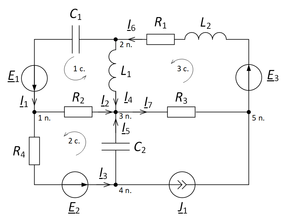Circuit diagrams Kirchhoff's first and second law theoretical foundations of electrical engineering TOE direction of currents and circuit bypass