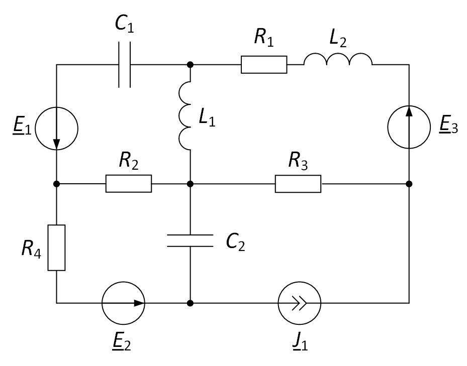 Электрическая схема метод контурных токов для расчёта электрической цепи