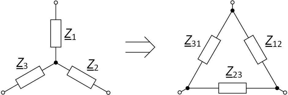 Преобразование звезды сопротивлений в треугольник